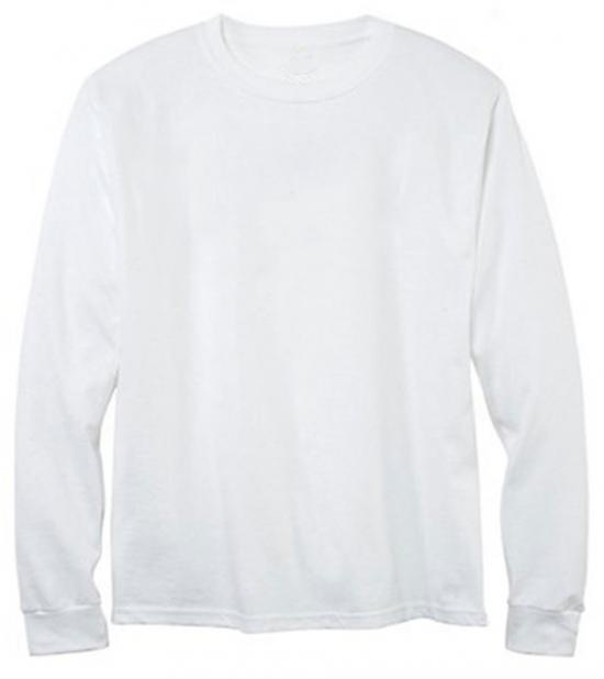 Men's crew-Neck Long sleeve Tee (PFD) 30/1 combed ring-spun cotton* Made In USA